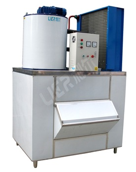 2 Ton Daily Output Commercial Flake Ice Machine With Ice Storage Bin