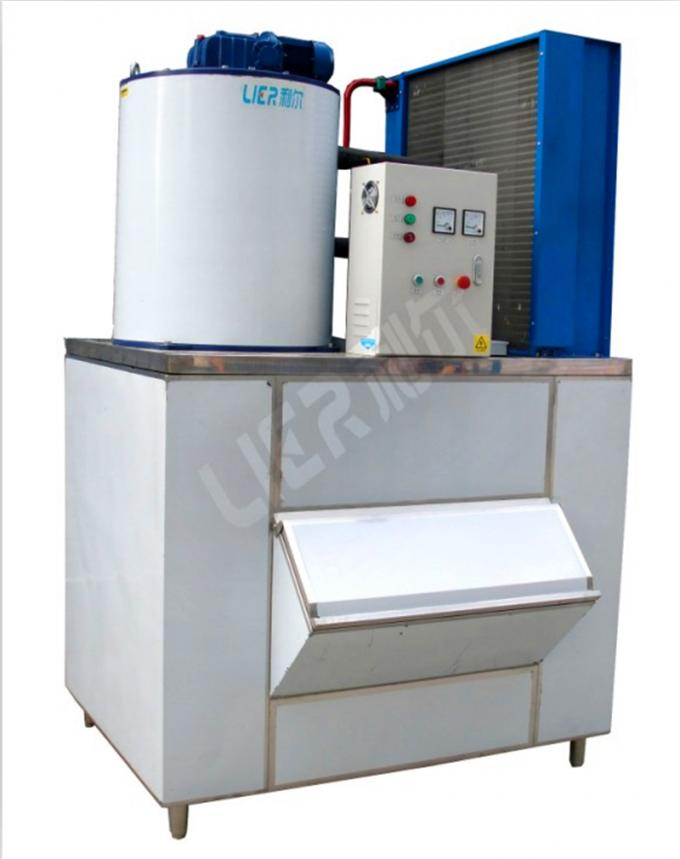 Fan Cooling Commercial Flake Ice Machine For Supermarket Lr-2t