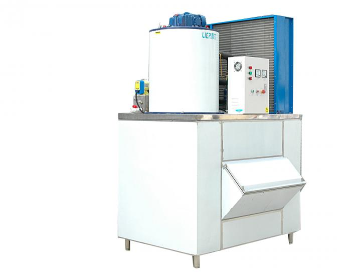 PLC Control Industrial Ice Making Machine Touch Screen Compact Structure