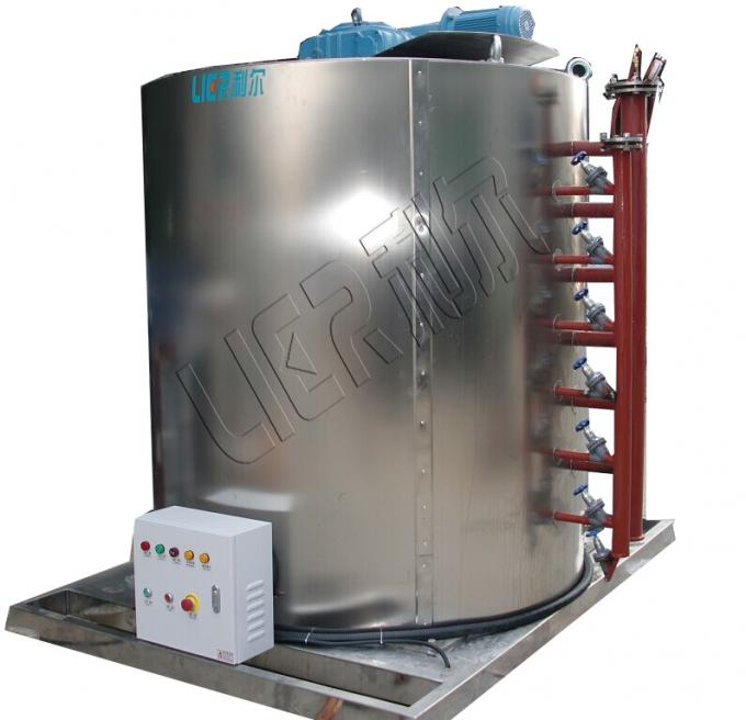 Carbon Steel Material Ice Machine Evaporator 210 KW Refregeration Capacity