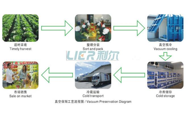Rapid Cooling Vacuum Ice Machine , Precool Cold Storage Accurated Control
