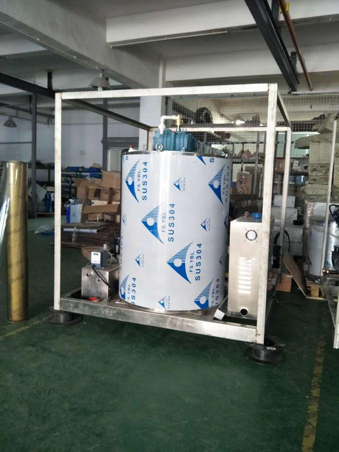 PLC Control Utmost Output 6Ton Seawater Flake Ice Maker Machine for Sale