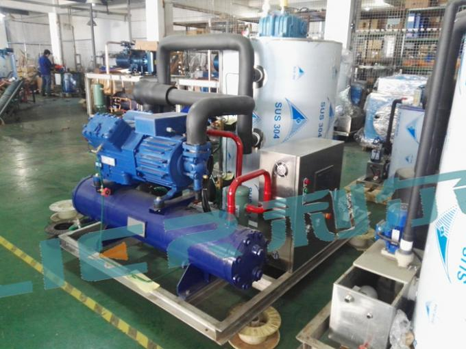 Piston Compressor  Seawater Flake Ice Machine for Fishing Boat , Ice-System for Fishery Vessel