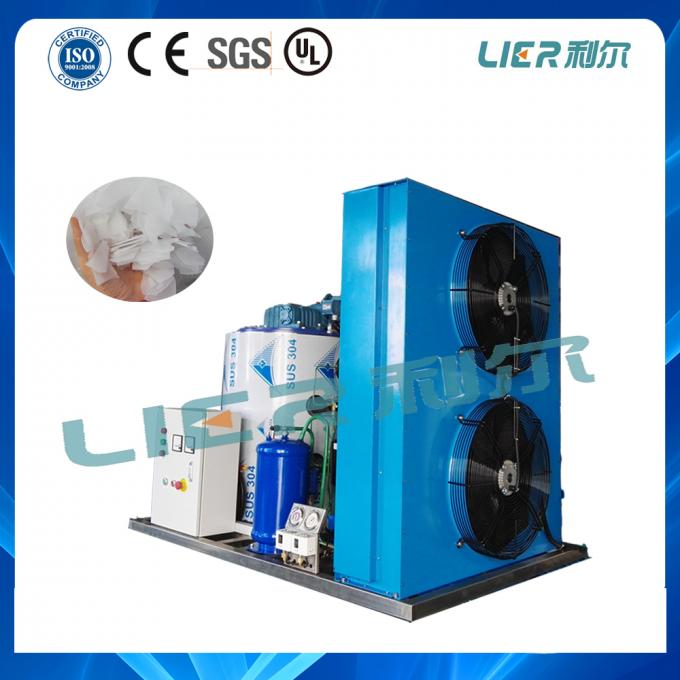 2 Tons Automatic Control Flake Ice Maker Machine For Seafood Cooling Use