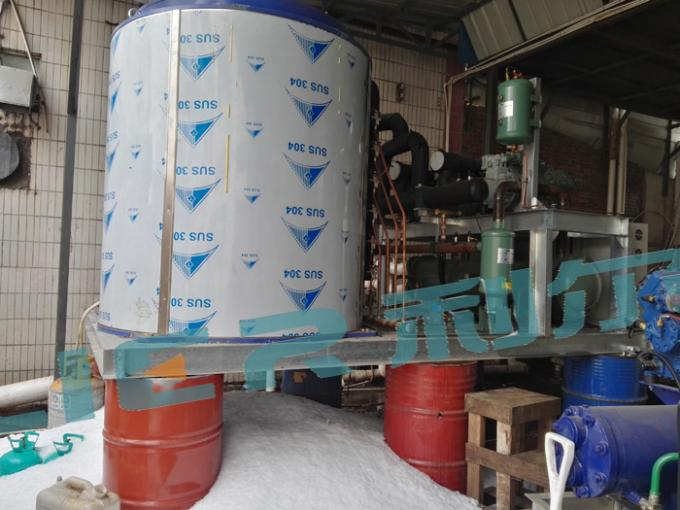 Industrial Big Flake Ice Machine , Flake Ice Making Plant Air Cooling / Water Cooling