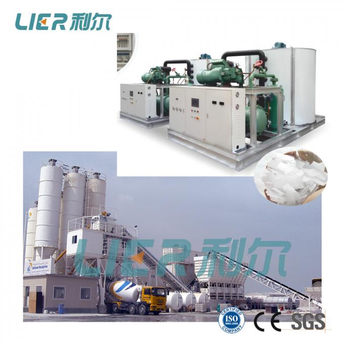 Containerized Flake Ice Plant 50 Ton With Ice Storage System Construction