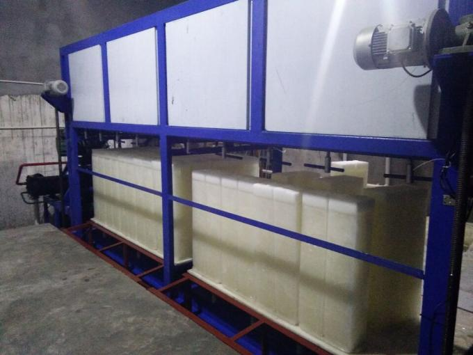 5 Tons Per Day Ice Block Maker Machine Brine Water Cooling For  Industrial