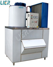 China 2 Ton Daily Output Commercial Flake Ice Machine With Ice Storage Bin supplier