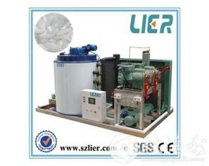 China Bitzer Compressor Industrial Ice Maker , Ice Making Equipment PLC Controller supplier