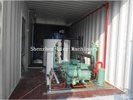 China High Capacity Ice Maker Machine Industrial 10T To 50T With Container supplier