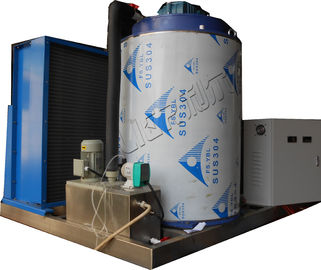 China Fresh Water Ice Machine Makers Commercial , Ice Flake Machine For Frozen Fish supplier