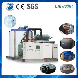 China 30T Water Cooling Industrial Flake Ice Maker Equipment , Industrial Ice Maker Bitzer Compressor supplier