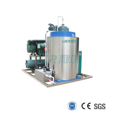 China Fishing Boat Seawater Flake Ice Making Machine With Piston Compressor supplier
