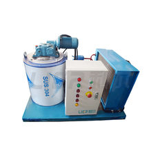 China Commercial Seawater Flake Ice Machine 1 Ton Per Day For Freezing Fish & Fishing Boat supplier