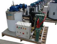 China 1T Health Flake Ice Making Machine , Ice Flaker Machine With Storage Bin factory