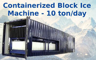 China Big Capacity Containerized Block Ice Machine Convenient Air Cooling 10t factory