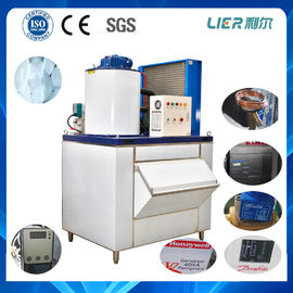 China 1 ton flake ice maker machine 98.6kw for fishery air cooling factory
