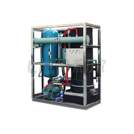 China Cyclinder Tube Ice Machine1- 20 tons Water Cooliong System R404A/R22 Refrigerant distributor