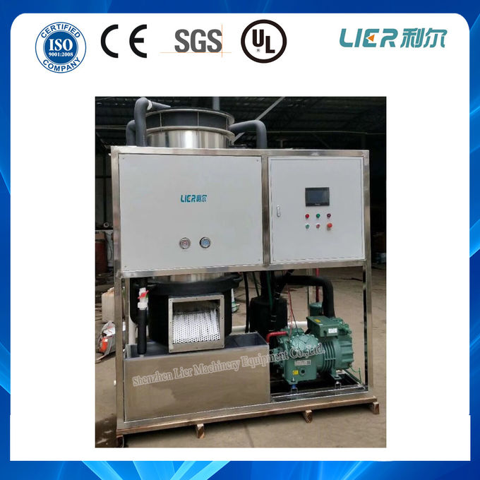 10 Ton / 24h Tube Ice Maker Water - Cooled Style PLC Control For Commercial